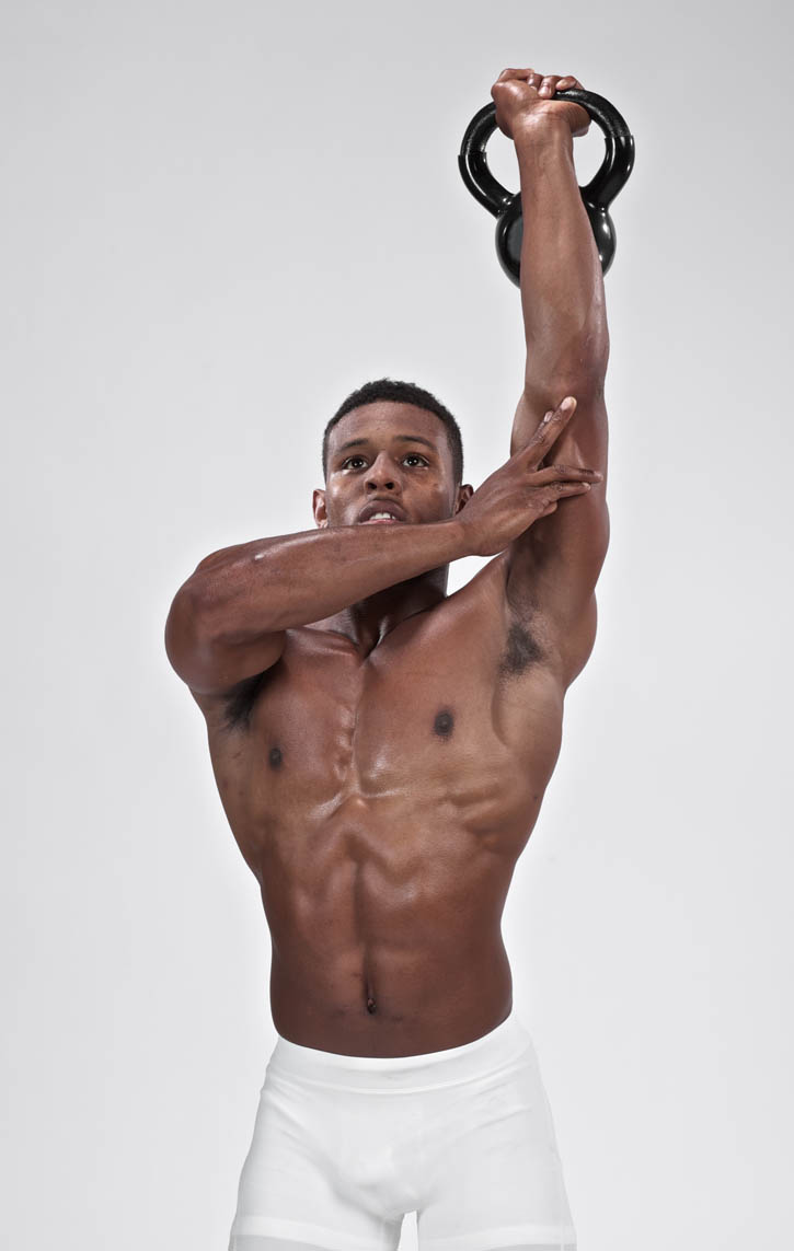 Kettlebell tricep extension standing one arm bodbot for Floor underhand cable fly