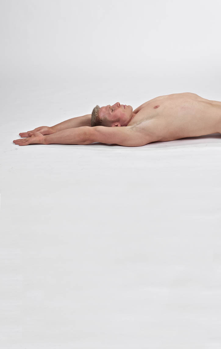 Lying Overhead Flexion Stretch