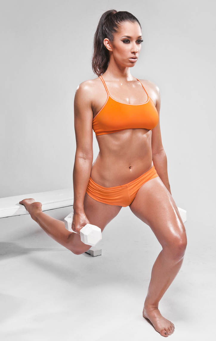 One-Leg Dumbbell Squat With Back Leg Elevated