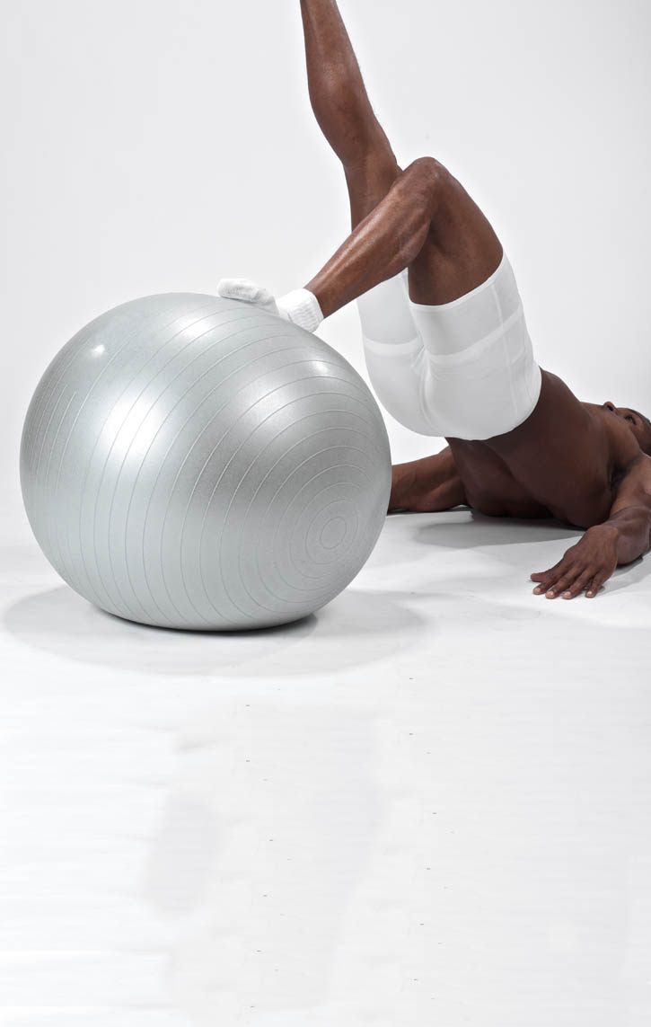 Stability Ball Single Leg Hip Thrust