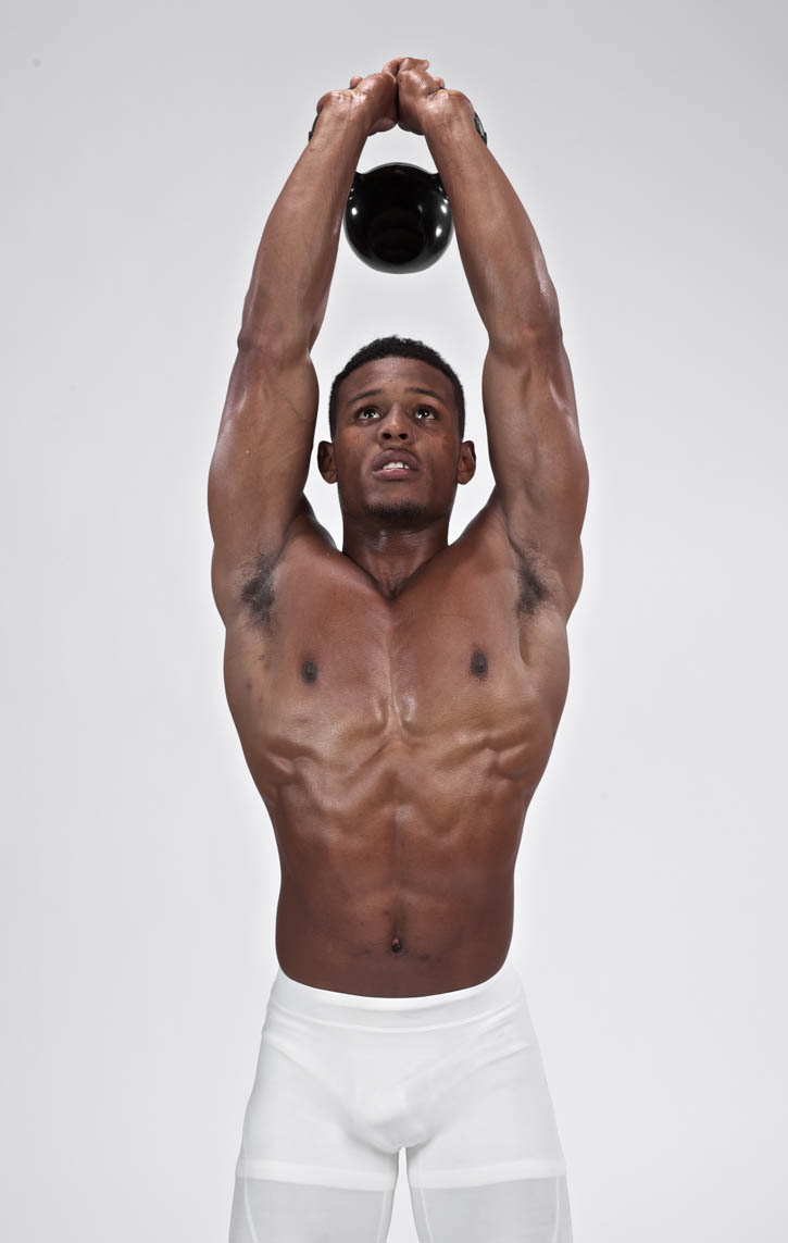 Tricep Extension Standing Kettlebell Bodbot