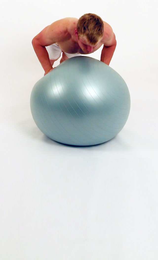 Stability Ball Pushup - Hands on Ball