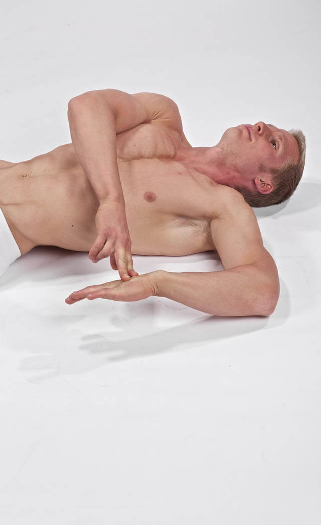 Lying Internal Rotation Stretch
